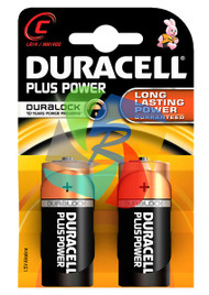 DURACELL PLUS PWR C PACK OF 2 (Pack Size: 10) (SKU: BT011)