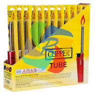TUBE UTILITY LIGHTER SOLID COLOURS (Pack Size: 12) (SKU: CL037)