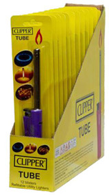 TUBE UTILITY LIGHTER PASTEL COLOURS (Pack Size: 12) (SKU: CL038)