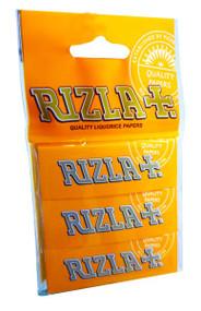 RIZLA LIQUORICE REGULAR ROLLING PAPER MULTI 3 PACK (60 X 3 BOOKLETS PER BOX) (RZ031)