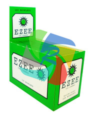 EZEE GREEN REGULAR ROLLING PAPERS WITH CUT CORNERS 100 BOOKLETS PER BOX (SKU EZ001)