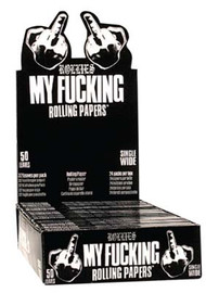 "FUNNY SAYING KINGSIZE PAPERS ""MY F**KING PAPERS"" (24 BOOKLETS PER BOX) (SKU: FN001)"