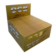 OCB GOLD KINGSIZE SLIM ROLLING PAPERS (50 PER BOX) (SKU: OC004)
