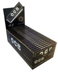 OCB PREMIUM BLACK REGULAR ROLLING PAPERS (50 PER BOX) (SKU: OC007)