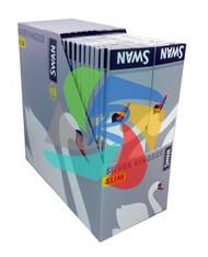 SWAN KINGSIZE SILVER SLIM PAPER 50 BOOKLETS PER BOX (SKU SW008)
