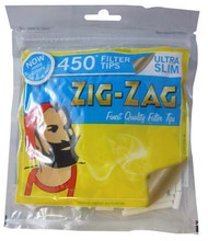 ZIG-ZAG ULTRA SLIM FILTER TIPS 450 TIPS PER BAG (50 PER BOX) (SKU ZI013)