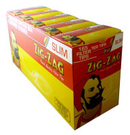 ZIG-ZAG SLIMLINE FILTER TIPS 165 TIPS PER BOX (10 PER TRAY) (SKU ZI015)