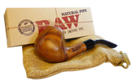 RAW UNCOATED WOODEN PIPE