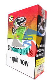 PLATINUM STRAWBERRY KIWI BLUNTS (25X2 WRAPS PER BOX) (RED)