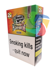 PLATINUM JAMAICAN RUM BLUNTS (25X2 WRAPS PER BOX) (BLACK)