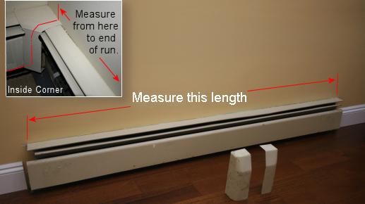 tips for measuring baseboard heater covers - Baseboard Heat