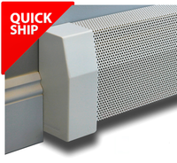 Quick Ship Premium Baseboard Cover Kit 5 ft length with Endcaps