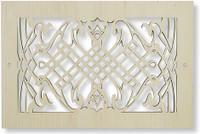 Custom wood vent cover
