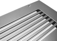 """Custom Pro-Linear Return Vent Cover (White) - 9"""" x 9"""" opening size (11""""L x 11""""W overall) With mounting holes, with return filter frame"""