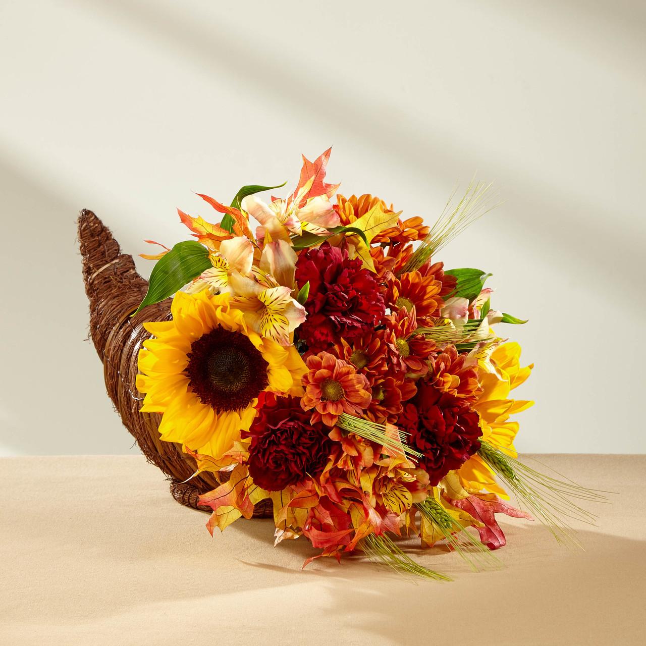 Fall Harvest Cornucopia by Soderberg's Floral & Gift
