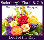 Flowers and container will vary. You will get the freshest flowers of the day!!