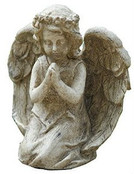 Graytone Kneeling Praying Angel Statue