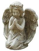 Graytone Kneeling Praying Angel Statue