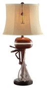 """30"""" Vintage Style Outboard Motor Table Lamp"""