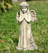 Praying Angel With Wings Child Statue