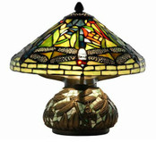 Mini Dragon Fly Table Lamp with Mosaic Base