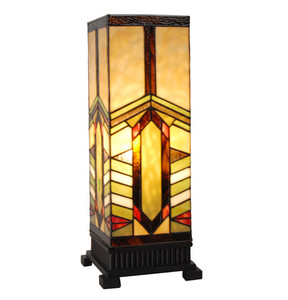 stone mountain craftsman style pillar table lamp. Black Bedroom Furniture Sets. Home Design Ideas