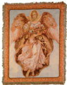 Angel On High Throw Blanket