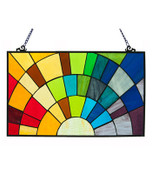 Tiffany Style Stained Glass Rays of Sunshine Window Panel