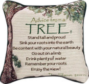 "Advice From a Tree 12"" Pillow"