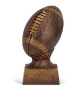 Bronze Football on Stand