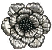 "24"" Silver Metal Garden Rose"