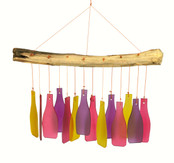 Glass bottle Windchime