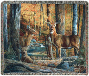 Broken Silence Rustic Deer Memory Throw Blanket