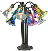 10 Arm Hanging Lily Lamp - Peacock