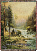 Evening In The Forest Thomas Kinkade Throw Blanket