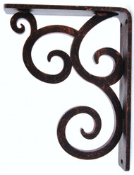 Isabelle-15B1   7.5D 10.0H 1.5W Iron Corbel