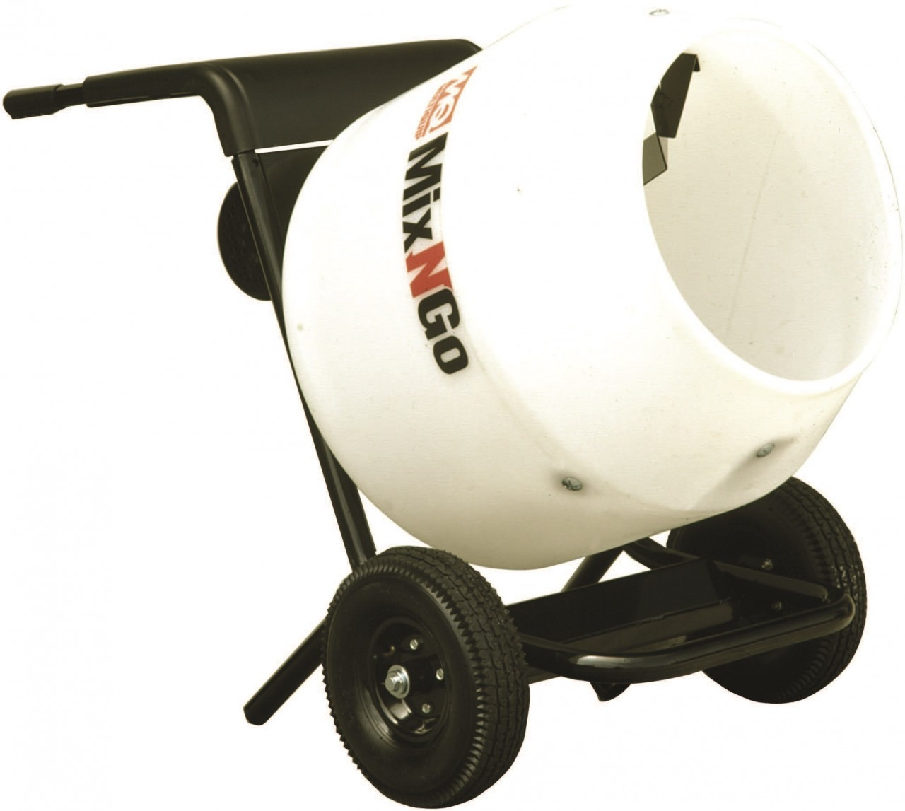 Cement Mixer Blades : Multiquip whiteman mc pea mix n go poly drum concrete