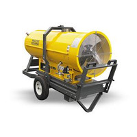 "Wacker Neuson HI 400HD D Heavy Duty Indirect Diesel Fired Heater - 411,000 btu, 57 gallon tank, pneumatic tires, lift bail, fork pockets, 2x16"" supply"