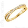 (NEW) BELLA COUTURE GENA Fine Gorgeous Diamond Criss Cross 14K Yellow Gold Ring (1/5 CT. TW.)