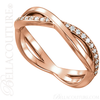 (NEW) BELLA COUTURE BALIENNA Fine Gorgeous Diamond Rose Gold Open Woven Eternity Ring (1/5 CT. TW.)