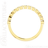 (NEW) BELLA COUTURE BEILSON Fine Diamond Bezel Set 14K Yellow Gold Stackable Ring Band (1/4 CT. TW.)