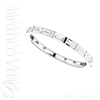 (NEW) BELLA COUTURE ® ETHEREAL 14K White Gold Baguette 1/2CT Diamond Eternity Ring Band