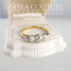 (ANTIQUE) VICTORIAN ANTIQUE .75 CT DIAMOND 14K YELLOW & WHITE GOLD NATURAL PEARL ENGAGEMENT ANNIVERSARY RING BAND - SIZE 6