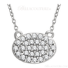 """(NEW) Bella Couture CARA Gorgeous Brilliant Round 1/5CT Diamond 14k Yellow Gold Oval Pendant Necklace (18"""" Inches in Length)"""