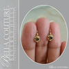 SOLD! - (ANTIQUE) Rare Exquisite Victorian French Genuine Sapphire Gemstone 18K 18CT Solid Yellow Gold Earrings c. 1837