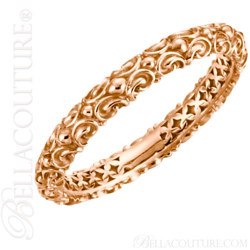 (NEW) BELLA COUTURE La VICTORIA Fine Gorgeous Sculptural 14K Rose Gold Ring (Size 7)