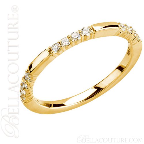 (NEW) BELLA COUTURE Le SIMONA Fine Diamond 14K Yellow Gold Ring Band (1/4 CT. TW.)