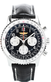 Breitling Navitimer 01 Chrono Auto Leather Watch AB012012/BB02/744P