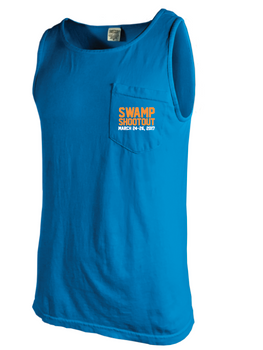 Swamp Shootout Comfort Colors Pocket Tank