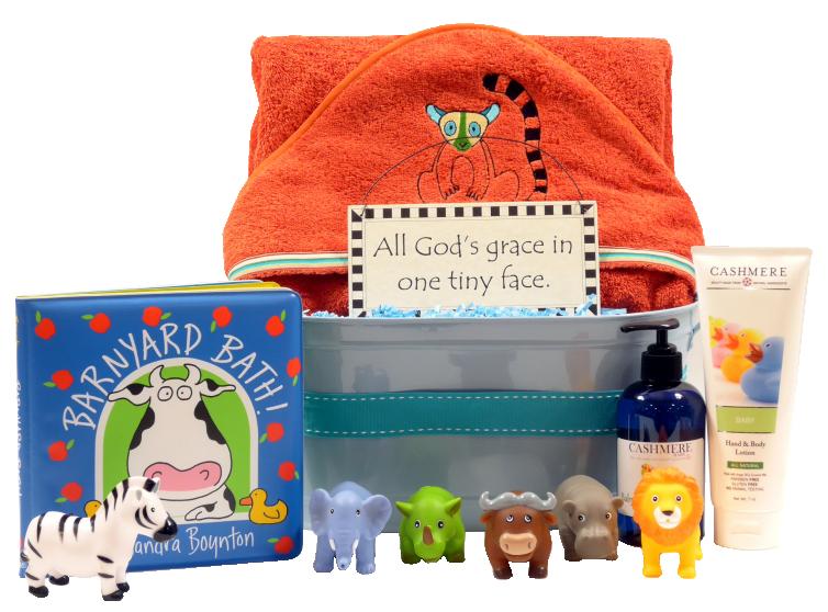 Organic Jungle Baby Gift Basket